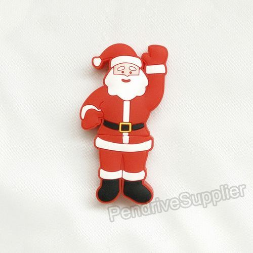 Cartoon red pendrive Christmas Father Santa Claus waving hand USB Flash drive 2.0