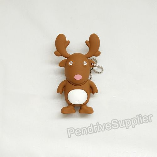 NEW 3D pendrive Christmas Deer model USB Flash drive stick