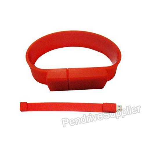 Button Wrist Band Bracelet USB Flash Drive