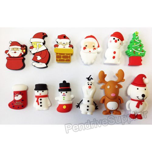 Christmas Cartoon USB Flash Drive