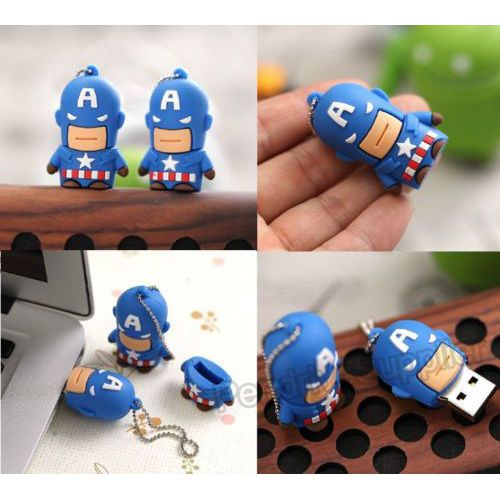 Pen drive cartoon Captain America model USB Flash drive memory stick
