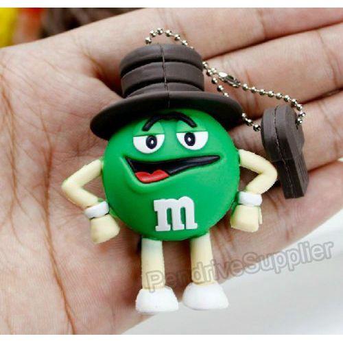 Pen drive cartoon M&M man USB Flash drive memory stick
