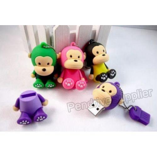 Pen drive Cartoon monkey model pink yellow green purple USB Flash drive memory stick