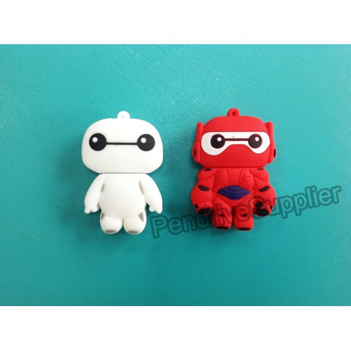 Red White Baymax USB Flash Drive