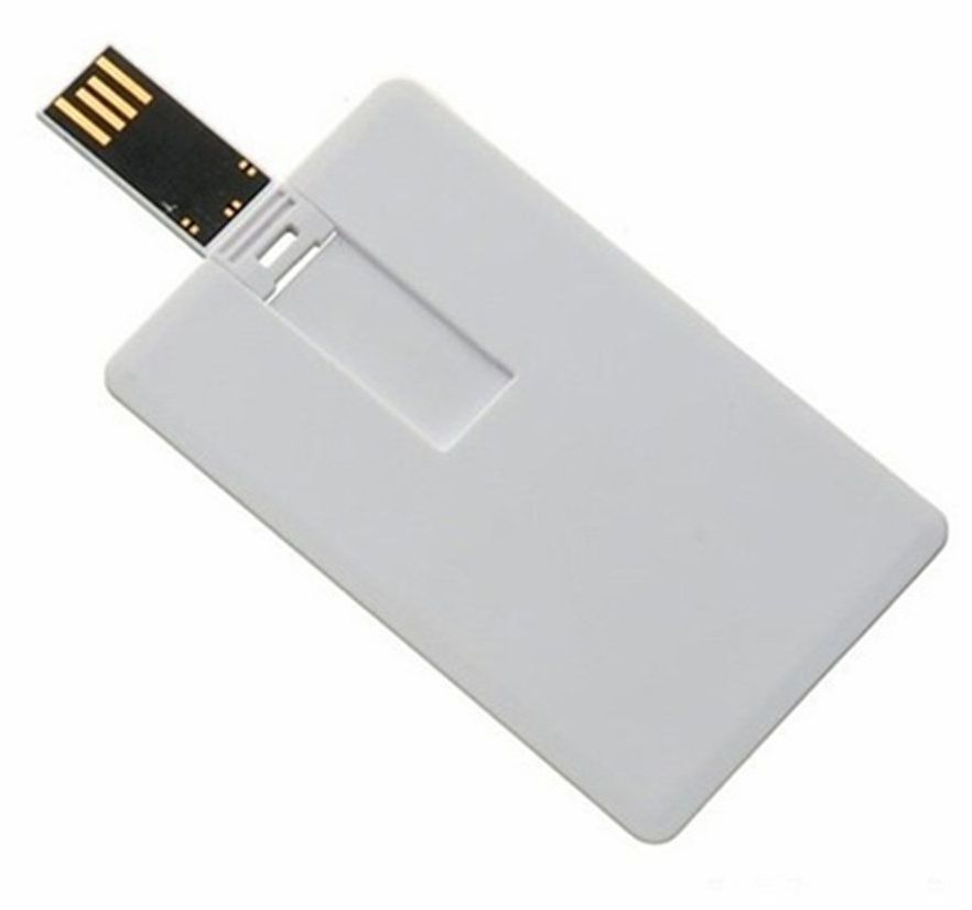 white card flash drive